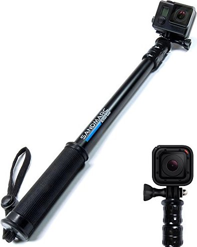 "SANDMARC® Pole - Black Edition: 17-40"" Waterproof Telescoping"