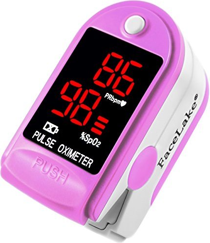 Facelake FL400 Pulse Oximeter with Neck/wrist Cord, Carrying