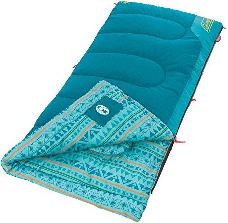 Coleman Kids 50 Degree Sleeping Bag, Teal